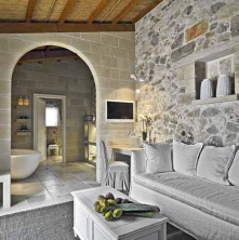 El interir de una casa de Lecce